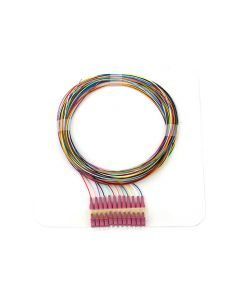 Pigtail LC OM4 1,5m 12pcs, colors