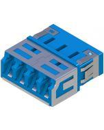 LC UPC Quatro blue 25pcs, dust protected