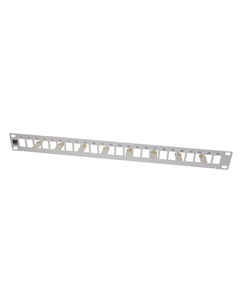 24xRJ45 UTP Keystone panel grey